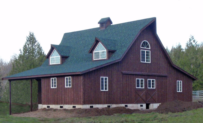 Wood project ideas complete barn inspired home plans for Barnhouse builders