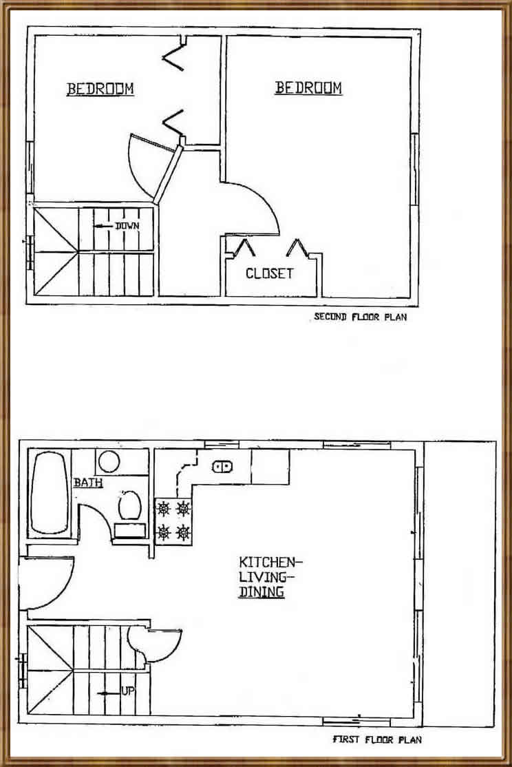Adirondack cabin plans 16x24 with loft joy studio design Tiny house floor plan kit