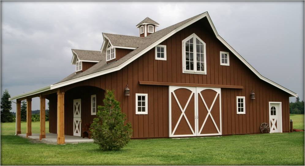 Horse stable human apartment the horse forum for Barn house plans kits