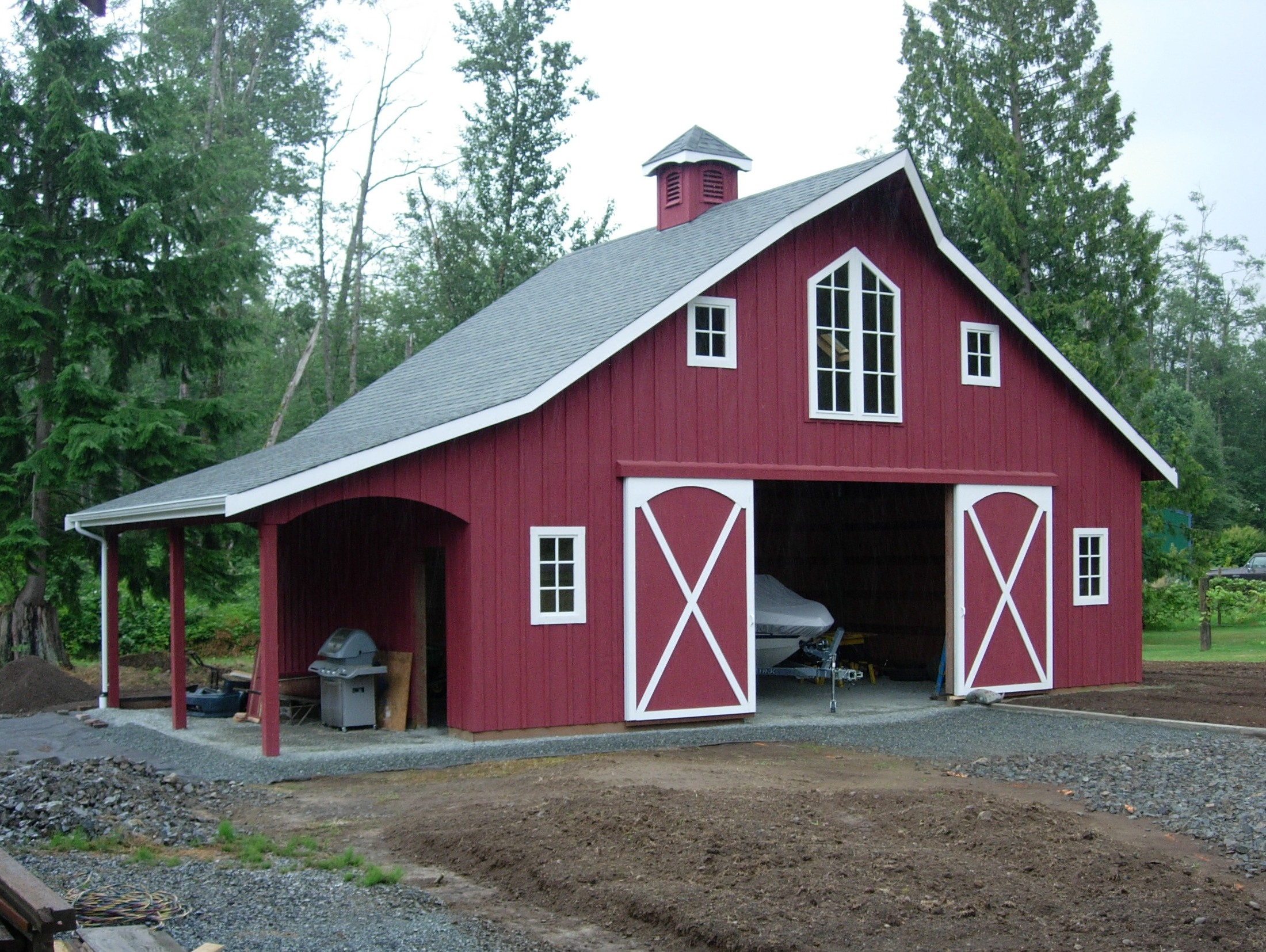 Shed project more flat roof pole barn plans for Metal barn designs