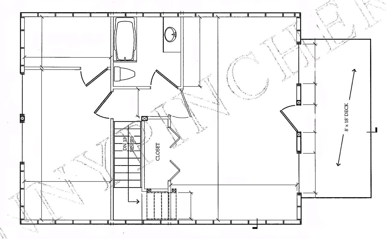 Cabin Plans for Building a Log Cabin from a Stock Cabin Floor Plan