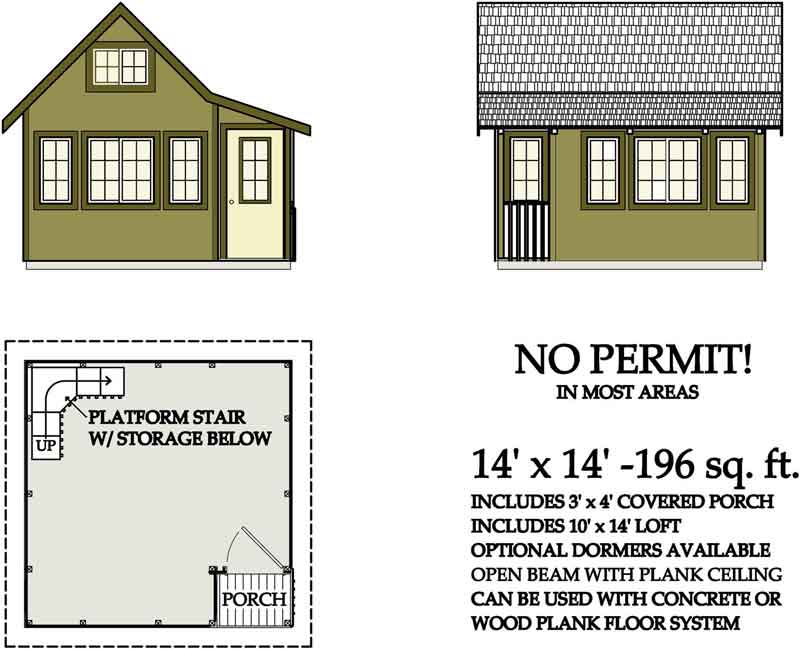 200 Sq FT Cabin Plans