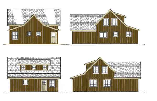 Dormer construction for Quaker barn home designs