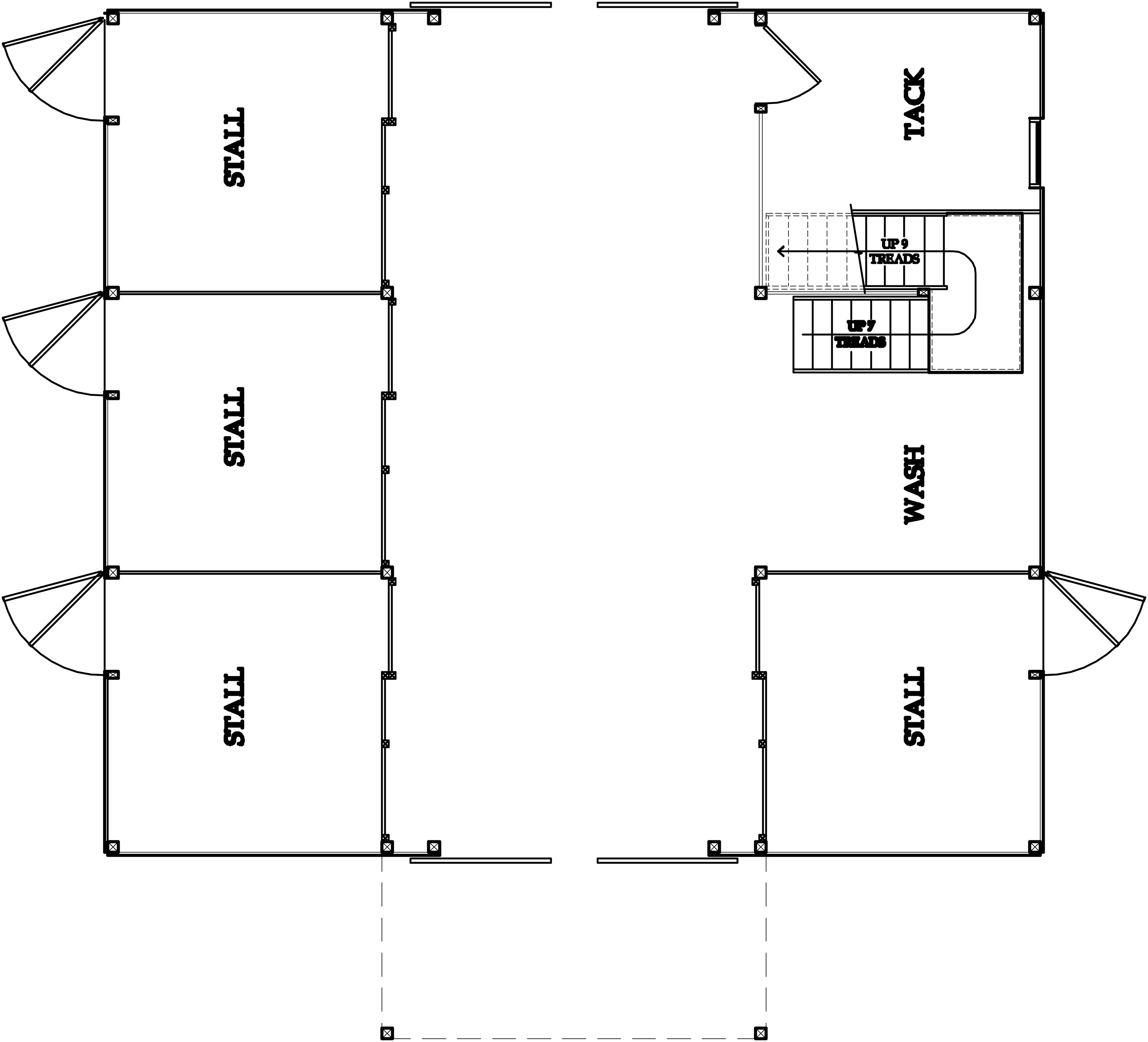Horse Barn Floor Plans: Small Horse Barn Plans